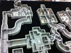 Dwarven Forge Dungeon Set by Paul.Unsbee, via Flickr