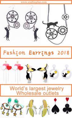 Plastic Earrings, Kids Earrings, Wholesale Outlet, Wholesale Jewelry, Beach Fashion, Women's Fashion, Sensitive Ears, Handbag Accessories, Fashion Earrings