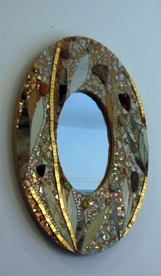 Just completed: commsioned mosaic mirror for a wedding gift! For more, look here: http://www.mosaicsbyariel.com/ and find out how to get yours too.  All rights reserved, by Ariel Finelt Shoemaker, 2014.