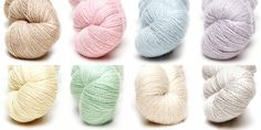 Artesano Lace Colour Pack in Soft Pastel Colours #lace #silk #colourpacks #lacey #knitting #crochet #weaving #weave #felting #alpaca #yarn #wool #alpacasilk #knit #pastels #pastelcolours #pastel