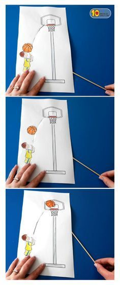 Shooting Hoops Basketball Paper Craft