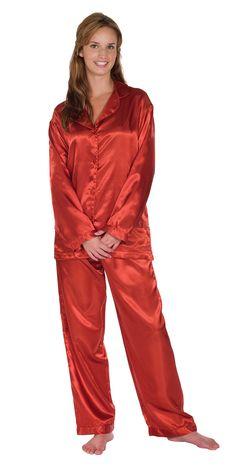 Cinnamon Satin Pajamas from PajamaGram. $59.99 #Satin #Pajamas