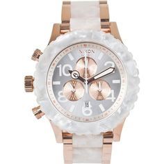 Nixon The 42-20 Chrono Watch ($500) ❤ liked on Polyvore