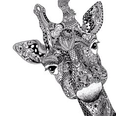 Zentangle like Giraffe art
