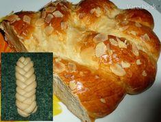 Maslová vianočka z piatich prameňov (fotorecept) - recept Slovak Recipes, Czech Recipes, Russian Recipes, Sweet Tooth, Tasty, Bread, Cooking, Polish, Food