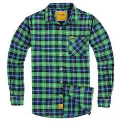 2013  Brand New Flanel Men's  Plaid Shirts $16.60