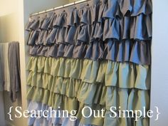 love these homemade shower curtains!