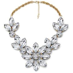 Impulse Women's Flower Gem Necklace (€8,21) ❤ liked on Polyvore featuring jewelry, necklaces, accessories, colar, jewels, blossom necklace, gemstone jewelry, gem jewelry, clear crystal necklace and gemstone necklaces