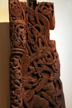 Norwegian wood carvings.
