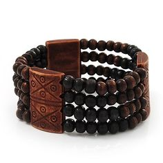 Fancy Brown Wooden Bead Bracelet - up to 19cm wrist Avalaya. $6.75. Wear On: wrist. Type: multi-strand, stretchy. Collection: wooden. Occasion: casual wear. Material: wood. Save 28%!