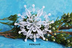 Single snowflake from set ALTA Paper quilled by OrnamentHouse