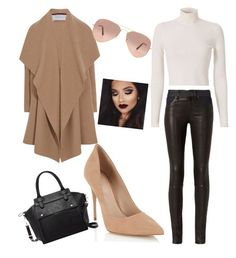 casual by arohaawilliams on Polyvore featuring polyvore fashion style A.L.C. Harris Wharf London rag & bone Lipsy Pink Haley Ray-Ban clothing