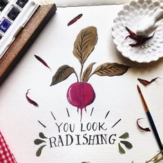 Radish Print: You Look Radishing from Seedling Paperie