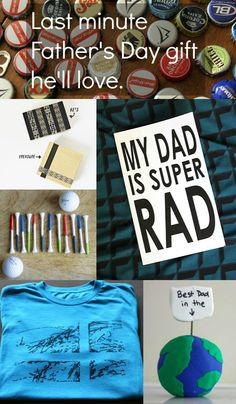 Simple handmade gift ideas for Father's Day kids can make! Some really cute ideas in here