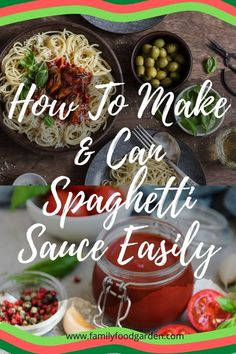 Are you fascinated by making your spaghetti sauce and canning it for the future? See the different methods and processing of home canning - waterbath canning and pressure canning. Check this pin for the tips! Sauce Recipes, Beef Recipes, Easy Recipes, Easy Meals, Cooker Recipes, Recipies, Canning Recipes, Kitchen Recipes, Canned Spaghetti Sauce