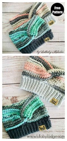Ear Warmer Free Crochet Pattern and Paid - - Crochet ear warmers are such a useful winter accessory to have in your outerwear rotation. The Ear Warmer Free Crochet Pattern is easy to work up. Crochet Ear Warmer Pattern, Crochet Headband Pattern, Easy Crochet Patterns, Crochet Beanie, Crochet Hooks, Free Crochet, Knitting Patterns, Crocheting Patterns, Crocheted Hats