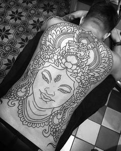 WEBSTA @ rory_pickersgill_tattoo - Lines today thanks Niels you tough mother fucker! Taking bookings for Amsterdam @thebluebloodstudios in August and October please email for appointments rorypickersgill@hotmail.com #whitetara #buddha #tibetan