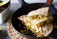 Scharfe Zucchini-Quesadillas