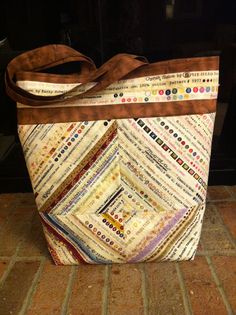 Selvage bag Made by Peggy Klock