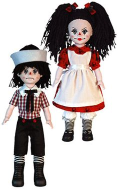 Living Dead Dolls Rotten Sam & Sandy. They hide in the shadows of your bedroom after you turn out the light....