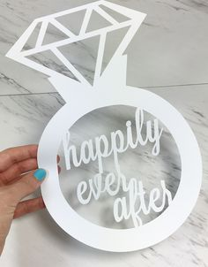94d4282ce68 This delicate paper cut sign is the perfect gift for a newly engaged bride  or decor