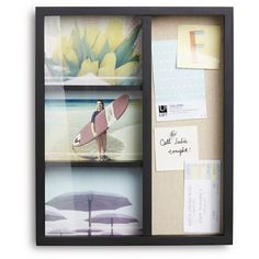 """Loft by Umbra Frame with Pinboard - Hold 3 5""""x7' Photos : Target"""