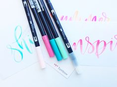3 ways to use the Tombow colorless blender pen