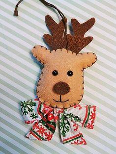Christmas Reindeer Felt Ornament  Reindeer by BeckyLynnCreations
