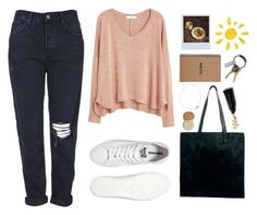 """""""Untitled #1082"""" by hi-its-shannon ❤ liked on Polyvore featuring MANGO, Topshop, Converse, Polaroid, CB2, Monki and Charlotte Tilbury"""