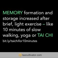 Ten minutes of Tai Chi - Qigong improves memory Tai Chi Qigong, Ten Minutes, Brain Activities, Exercise, Memories, Excercise, Ejercicio, Exercise Workouts, Physical Exercise