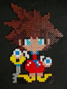 Sora Kingdom Hearts perler beads by Nostra-Drawing