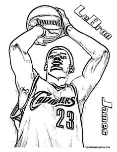 LeBron James Basketball Coloring Tell Other Kids You Found YesColoring