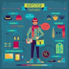Infography about hipsters
