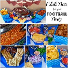 Chili Bar For A Football Party {Chili Recipe AND Giveaway} - Will Cook For Smiles