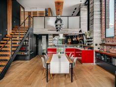 Chic Custom Urban Loft Apartment in San Francisco Stone Interior, Interior Windows, Apartment Interior Design, Interior Decorating, New Kitchen Designs, Urban Loft, Industrial Interiors, Loft Style, California Homes