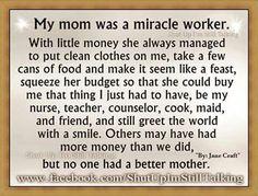 I miss you Mom.