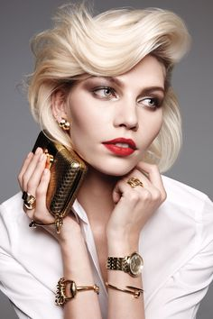 March 2013 | Model Aline Weber with hair styled by Yannick D'Is, shot by Amy Troost.