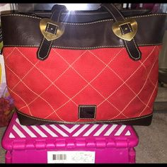 TODAY ONLY PRICE DOONEY AND BURKE BAG Beautiful red leather DOONEY and Burke bag like new. No low ball offers no trades Dooney & Bourke Bags Shoulder Bags