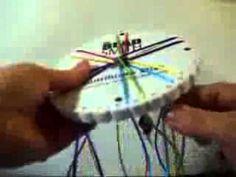 Disco Kumihimo para tejer, 32 ranuras, agujero interior de 22mm, mide 108mm de diámetro - YouTube
