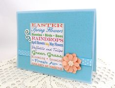 Spring Time Words  Spring Time Cards  Easter Card