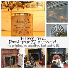 How to paint your fireplace surround with #chalk paint