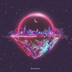 I like that the picture shows a planet that has one side with buildings, and the other just mountains. I also like the colors that were used in the city.
