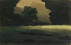 Поляна в лесу. Туман Forest Glade. Fog, 1908 by Arkhip Kuindzhi. Impressionism. landscape
