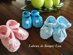 Labores de siempre: Variedad de Zapatos para bebé III
