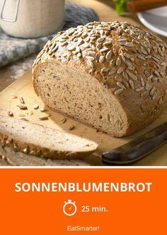 Sonnenblumenbrot - smarter - Zeit: 25 Min.   eatsmarter.de German Bread, Bread Baking, Bread Recipes, Rolls, Pudding, Sweets, Lunch, Dinner, Eat Smarter