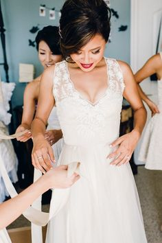 Featured Photographer: Ahava Studios; Wedding dress idea.