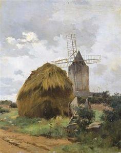 Le moulin d'Alphonse Daudet à Fontvieille by Joseph Garibaldi