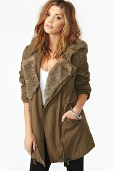 warm Anorak. I'd like thick plaid on the inside though. And more green than brown