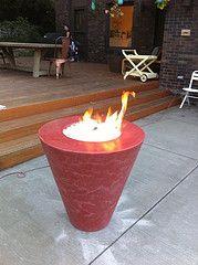 Scarlet Fire - Concrete Fite Pit by briansieffert