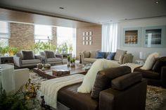 Living feito com nossos tapetes pela arquiteta Carla Felippi.